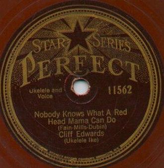 """Perfect Records - Disc featuring Cliff """"Ukulele Ike"""" Edwards"""