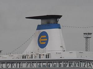 Nordlandia' Funnel Port of Tallinn 11 June 2012.JPG