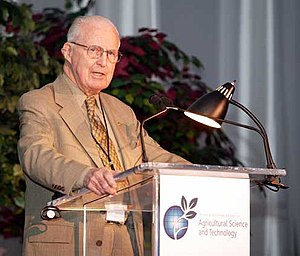 Norman Borlaug - Borlaug speaking at the Ministerial Methodist Conference and Expo on Agricultural Science and Technology, June 2003