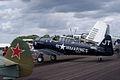 North American SNJ-4 Texan VMF-231 LSide SNF 16April2010 (14444012447).jpg