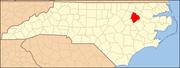 Edgecombe County map