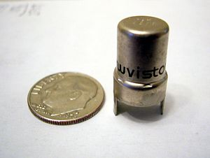Nuvistor - Nuvistor with U.S. dime for scale