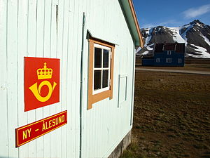 The world's northernmost post office in Ny Ålesund
