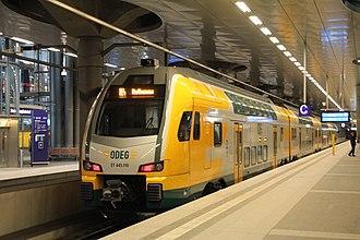 Ostdeutsche Eisenbahn - Stadler KISS at Berlin Hauptbahnhof
