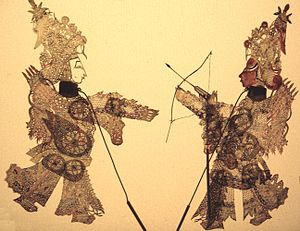 Shadow play - Chinese shadow theatre figures
