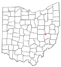 Location of Kimbolton, Ohio