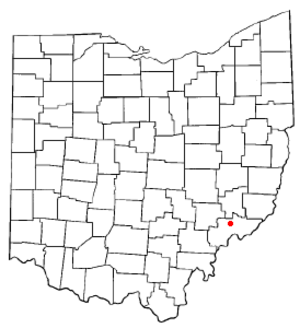 Lowell, Ohio - Image: OH Map doton Lowell