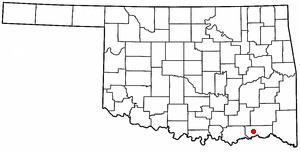 Soper, Oklahoma - Image: OK Map doton Soper
