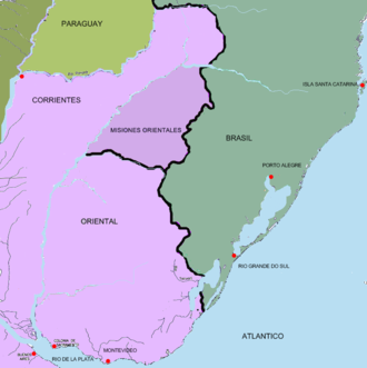 Spanish–Portuguese War (1735–1737) - The Banda Oriental