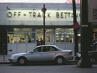 Off-track betting in New York - An OTB parlor in Ditmars, Queens, as seen in June 2010