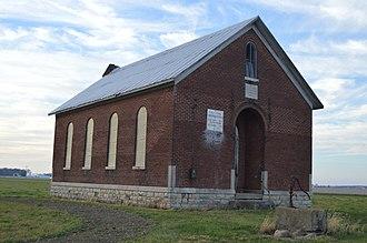 Van Buren Township, Darke County, Ohio - Schoolhouse in the township's northeast