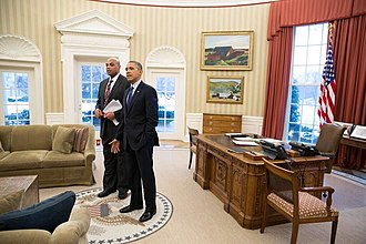 Charles Barkley - Barkley with President Barack Obama at the White House