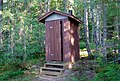 Occupied outhouse South of Una lake in Bowron Lake Provincial Park, BC (DSCF3315).jpg
