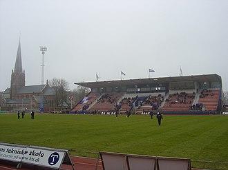 Østerbro Stadium - Østerbro Stadion main stand.