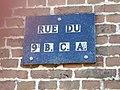 Offignies - PLaque de rue au 9e BCA - IMG 20191026 113619 03.jpg