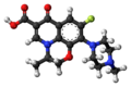 Ofloxacin molecule ball.png