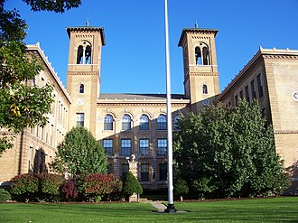 East High School (Rochester, New York) - Image: Old East High School Courtyard Rochester New York