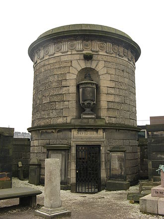 David Hume - David Hume's mausoleum by Robert Adam in the Old Calton Burial Ground, Edinburgh.
