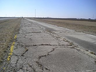 U.S. Route 66 - An abandoned early US 66 alignment in central Illinois, 2006