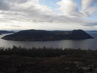 Ombo - View of Ombo from Jøsneset  in Hjelmeland