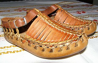 Opanak traditional peasant shoes worn in Southeastern Europe