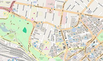 Wickham Terrace - Open Street Map - Wickham Terrace, 2015