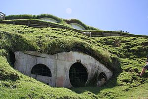 English: Original Hobbit Hole, Hobbiton locati...