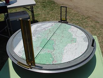 Osborne Fire Finder - An Osborne Firefinder device used in fire lookout towers.