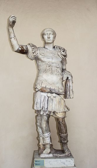 Trajan - Statue of Trajan, Luna marble and Proconessian marble, 2nd century AD, from Ostia Antica