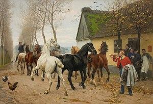 Otto Bache - Image: Otto Bache A pack of horses