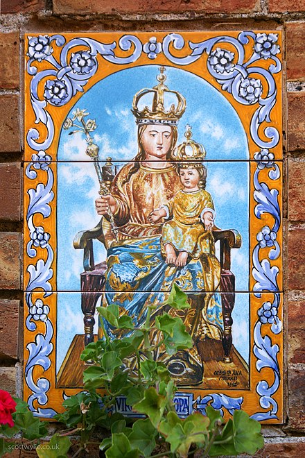 Gibraltar plaques - Our Lady of Europe, Gibraltar.[5]