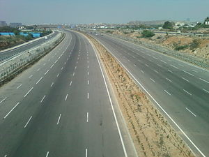 Bypass (road) - Outer Bypass Road (Atal ORR) at Narsinghi, Hyderabad in India