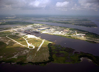 Blount Island Command - Overhead picture of BICmd, taken in 1994