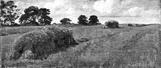 Høstlandskab med korntraver