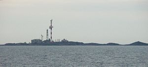 Sommers - Sommers in 2007. The lighthouse is the truss construction, while the other constructions are antennae and radar masts.