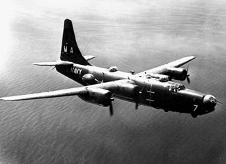 Consolidated PB4Y-2 Privateer - U.S. Navy PB4Y-2 from VP-23 in flight.