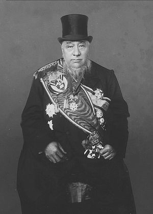 South African Republic - The President of the ZAR, State President Paul Kruger at his fourth inauguration, Pretoria, 1898.