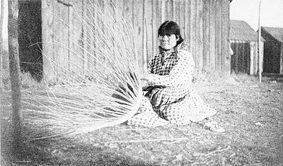 PSM V47 D101 Basketmaker at work a california woman.jpg