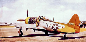 RAF Raydon - Republic P-47D-30-RA Thunderbolt Serial No. 44-33240 of the 356th Fighter Squadron