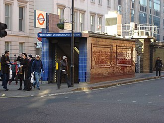 Paddington tube station (Bakerloo, Circle and District lines) - Image: Paddington Underground station, Praed St Bakerloo line entrance geograph.org.uk 720997