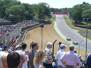 Brands Hatch - The view from the top of Paddock Hill Bend towards Druids hairpin taken at a DTM race in July 2006.
