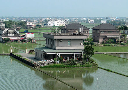 Rice paddy fields in Yilan County Paddy field, Yilan 02.jpg