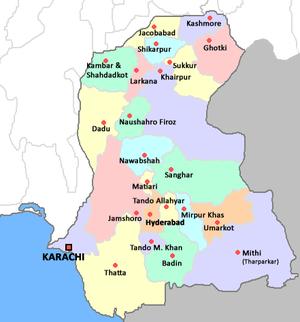 Sindhudesh - Districts of Sindh
