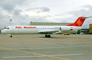 Palair Macedonian Airlines Flight 301 - The accident aircraft two weeks before the accident