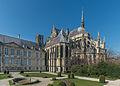 Palais du Tau and Cathédrale Notre-Dame de Reims, East View 20140306.jpg