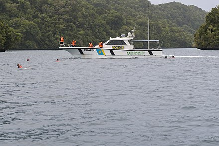 The Euatel, Kabekl M'tal and Bul provide littoral fishery protection. Palau Maritime Police vessel.jpg