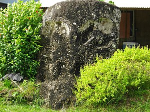 National Register of Historic Places listings in Palau - Image: Palauan Stone Face in Melekeok