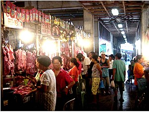 "Palengke - A typical public market, in Danao, locally known as a ""palengke"" in the Philippines"