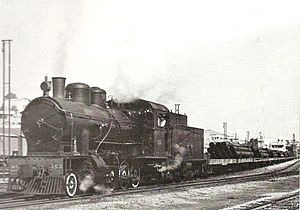 Hejaz railway - SLM in Switzerland built a class of ten 2-8-0 locomotives for the Hejaz railway in 1912, numbered 87–96. They were later renumbered 150–159. Several were captured in 1918 by British and Empire forces or transferred in 1927 to Palestine Railways, which had taken over the Hejaz railway's Jezreel Valley branch in 1920. 153 (formerly 90) was transferred in 1927 and is pictured on the Jezreel Valley railway in 1946.