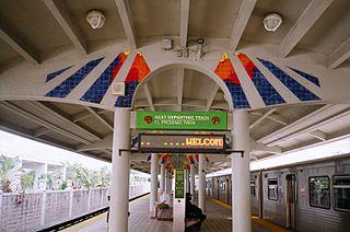 Palmetto station Miami-Dade Transit metro station